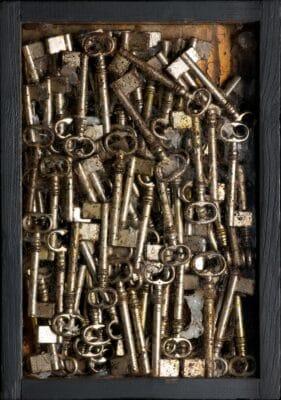 Fernandez Arman - Opera Accumulazione di chiavi, 1963